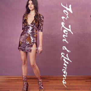 NWT For Love and Lemons Sparklers Mini Party Dress